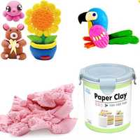 Nororo Paper Clay 800ML SOFT Ultralight DIY Non-Toxic Non-Brushed Space Sand Kids Play Toy