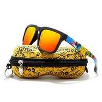 KDEAM KD2501 Polarized Sunglasses Men Women UV400 Square Frame Sun Glasses With Hard Case