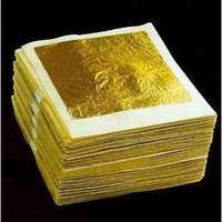 10Pcs Sheets Gold Foil 24K Gold Leaf Foil Sheets 4.33x4.33cm