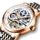 Offres Flash TEVISE T874 Full Steel Waterproof Automatic Mechanical Watch Moon Phase Calendar Men Watch