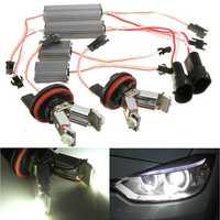 LED Angel Eyes Halo RING Light H8 Bulb Error Free For BMW EE90 E91 E92 E93
