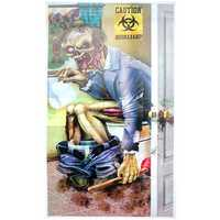 Zombie Restroom Door Cover Decorations Halloween Party Horror Creepy Scary Poster