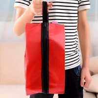 Portable Oxford Nylon Shoe Bag Multifunction Home Travel Soild Color Tote Storage Case Shoe Cover