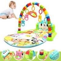 Foot Play Piano Musical Lullaby Baby Activity Playmat Gym Toy Soft Baby Play Mat