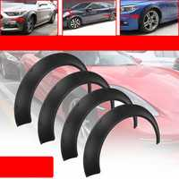 Universal Car Wheel Fender Flares 4 Piece Flexible Yet Durable Polyurethane Body Kits Extra Wide Body Wheel Arches