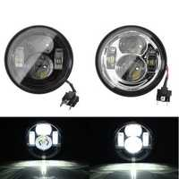 4.65 Inch Pair LED Hi/Lo Headlight Lamps For Harley Dyna Fat Bob 2008-2015