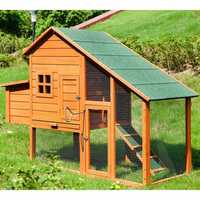 TOPMAX Pet Rabbit Hutch Wooden House Chicken Coop for Animals House Pet Bed