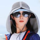 Recommandé Women Summer UV Protection Sun Hat Wild Brim Visor Breathable Mesh Bucket Hat For Riding Cycling