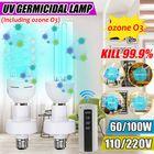 Les plus populaires 60W 100W UV Germicidal Lamp E27 LED UVC Corn Bulb Home UV Sterilizing Disinfection Light + Lampholder + Socket 110V/220V