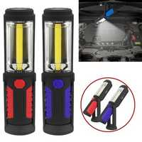 COB LED USB Rechargeable Work Inspection Light Magnetic Outdoor Camping Lamp