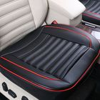 Bon prix 5/10/20PCS 50x50cm PU Leather Car Cushion Seat Chair Cover Black/Beige/Coffee Auto Interior Pad Mat