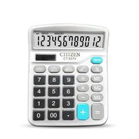 GTTTZEN Finance Calculator 12 Digits Solar and Coin Battery Power Desktop Deli Office Stationery