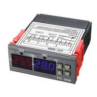 110-220V STC-3008 Digital Display Intelligent Dual Control Electronic Thermostat Dual Display Dual Temperature Adjustable Temperature Controller