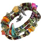 Meilleurs prix Multilayer Tibetan Buddhist Colorful Beaded Unisex Bracelet