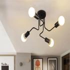 Meilleurs prix Vintage Industrial Edison 4 Lights Barn Metal Flush Mount Ceiling Lights