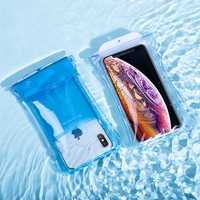 Baseus 4 Sealing Layers IPX8 Waterproof Bag Senstive Touch Airbag Floating Protective Pouch for Mobile Phone Under 7