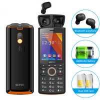 SERVO R25 2.8 inch 6000mAh Power Bank TWS True Wireless bluetooth 5.0 Headphone GPRS Dual SIM Card Feature Phone