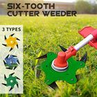 Wholesale Price Updated Grass Trimmer Head 6 Teeth Blade Trimmer Head Brush Cutter Blade for Lawnmower Green Yellow