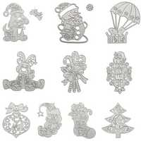 Christmas Tree Wreath Cutting Mold Metal Cutting Dies Scrapbooking Photo Album DIY Decoration