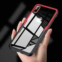 Bakeey Protective Case for iPhone XS 2018 Clear Tempered Glass Back Cover TPU Frame