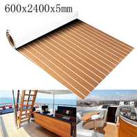 600x2400x5mm Marine Flooring Faux Teak EVA Foam Boat Decking Sheet