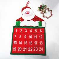 Christmas Santa Claus Countdown Calendar Banner Decoration Gift