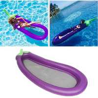 IPRee™ 250x100CM PVC Inflatable Mat Giant Eggplant Lounge Float Bed Raft Swimming Pool Toy
