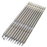 10pcs T12 Soldering Iron Tips Set for HAKKO FX951 FX952