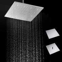 16'' 250MM 304 Stainless Steel Rainfall Showerhead Square Ultra Thin Slim Rain Shower Head