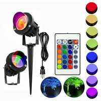 10W RGB LED Flood Spot Light Waterproof Outdoor Garden Landscape Path Lawn Lamp AC85-265V