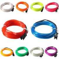 3M EL Led Flexible Soft Tube Wire Neon Glow Car Rope Strip Light Xmas Decor DC 12V