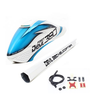 ALZRC Devil 380 FAST RC Helicopter Parts Painting Canopy Combo Blue White