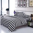 Acheter au meilleur prix 3 Or 4pcs Polyester Fiber Black White Stripe Plaid Geometry Stars Reactive Print Bedding Sets