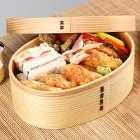 Japanese Style Wooden Lunch Box Student Bento Box Sushi Box