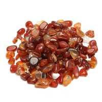 100g Natural Red Gravel Agate Polished Healing Quartz Crystal Stones Specimens DIY