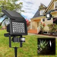 Solar Power Super Bright 30 LED Body Induction Light Garden Wall-mounted Spot Lightt