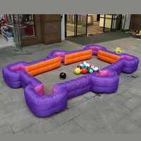 4.2x2.58M Inflatable Foot Pool Table Football Snook Ball Human Billiards Toys