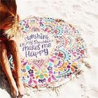 Prix de gros 150cm Cotton Bohemia Round Beach Yoga Towel Mandala Bed Sheet Tapestry Tablecloth Decor