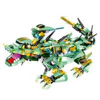 MoFun Green Battle Dragon 2.4G 4CH RC Robot Infrared Control Block Building Assembled Robot Toy