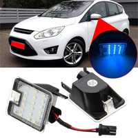 Pair LED Under Side Mirror Puddle Light Blue for Ford Mondeo MK4 Focus Kuga Escape C-Max
