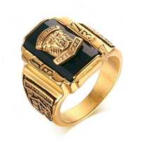High Polished Walton Tiger Head Fashion Ring Stainless Steel Rings Gift for Men