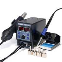 YIHUA 8786D I Upgrade Rework Station Digital Display Iron SMD Heat Hot Air Soldering Station Welding