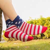 Unisex Tube Socks Casual Crew Ankle American USA Star Flag Stripes Glory Socks