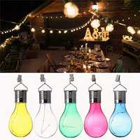 Solar Powered Camping Hanging LED Light Bulb Waterproof for Outdoor Garden Yard