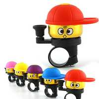 BIKIGHT Aluminum Alloy Bike Bicycle Bell Loud Clear Cycling Cartoon Mini Cute Alarm Horn Ring Bike Accessories For Kids