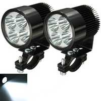 2pcs 12W 6000K LED Daylight Headlamp Spotlight Motorcycle Scooter Car Truck Van