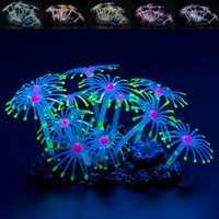 Fluorescent Silicone Aquarium Coral Plant Water Aquatic Fish Tank Ornament Decor Decorations