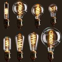 E27 Dimmable COB LED Vintage Retro Industrial Edison Lamp Indoor Lighting Filament Light Bulb AC110V