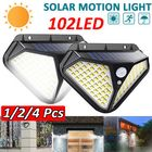 Meilleurs prix 102 LED Solar Infrared Motion Sensor Wall Light Outdoor Garden Light Waterproof