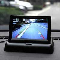 4.3 Inch TFT LCD Monitor LED IR Reversing Camera Car Rear View Kit For Truck Bus